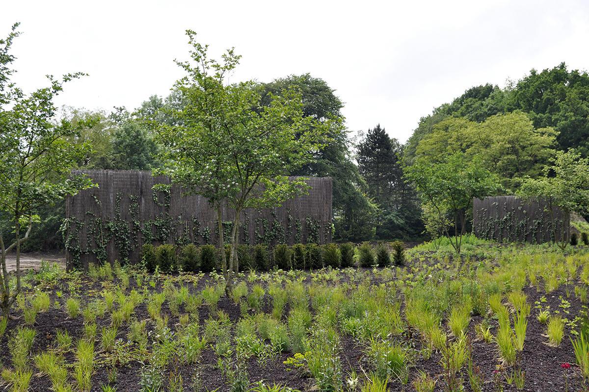 City garden groningen rooftop park trees for roof for Garden city trees